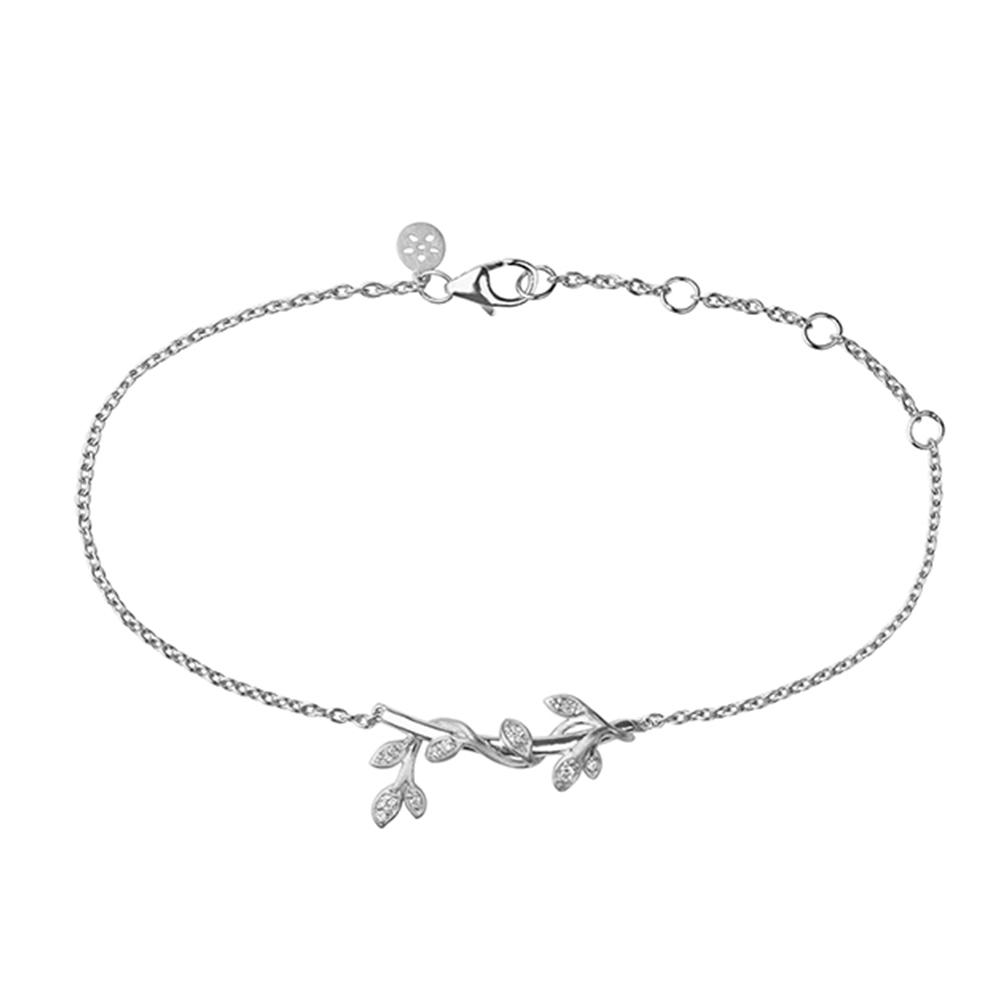 Jungle Ivy Bracelet Sparkle - Silver