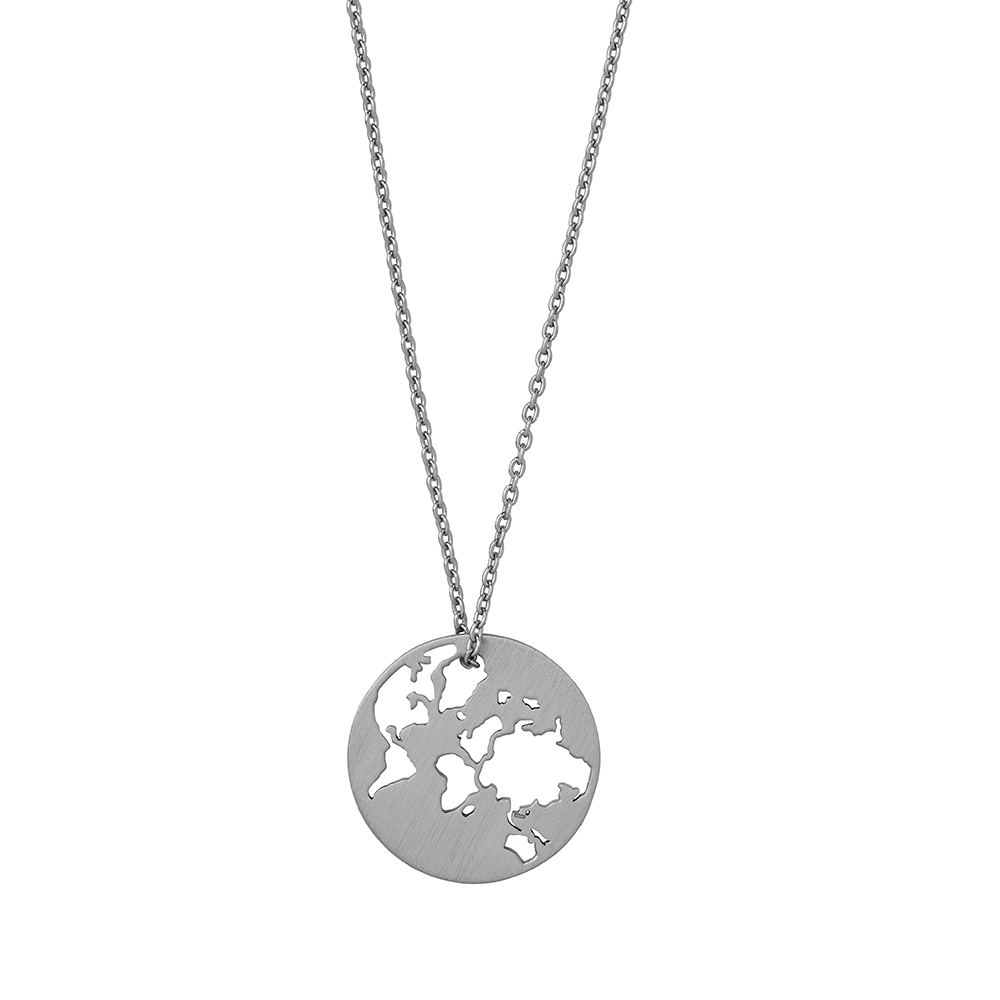 Beautiful World necklace 45 cm - Silver