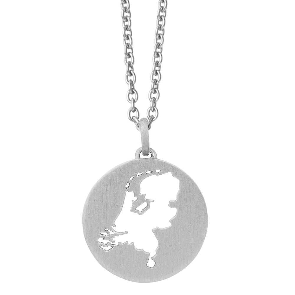 Beautiful Netherlands Necklace 45 cm -Silver