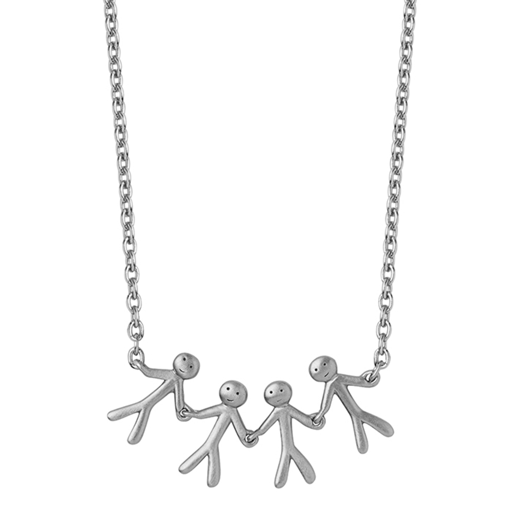 Together - Family necklace (4) - Silver