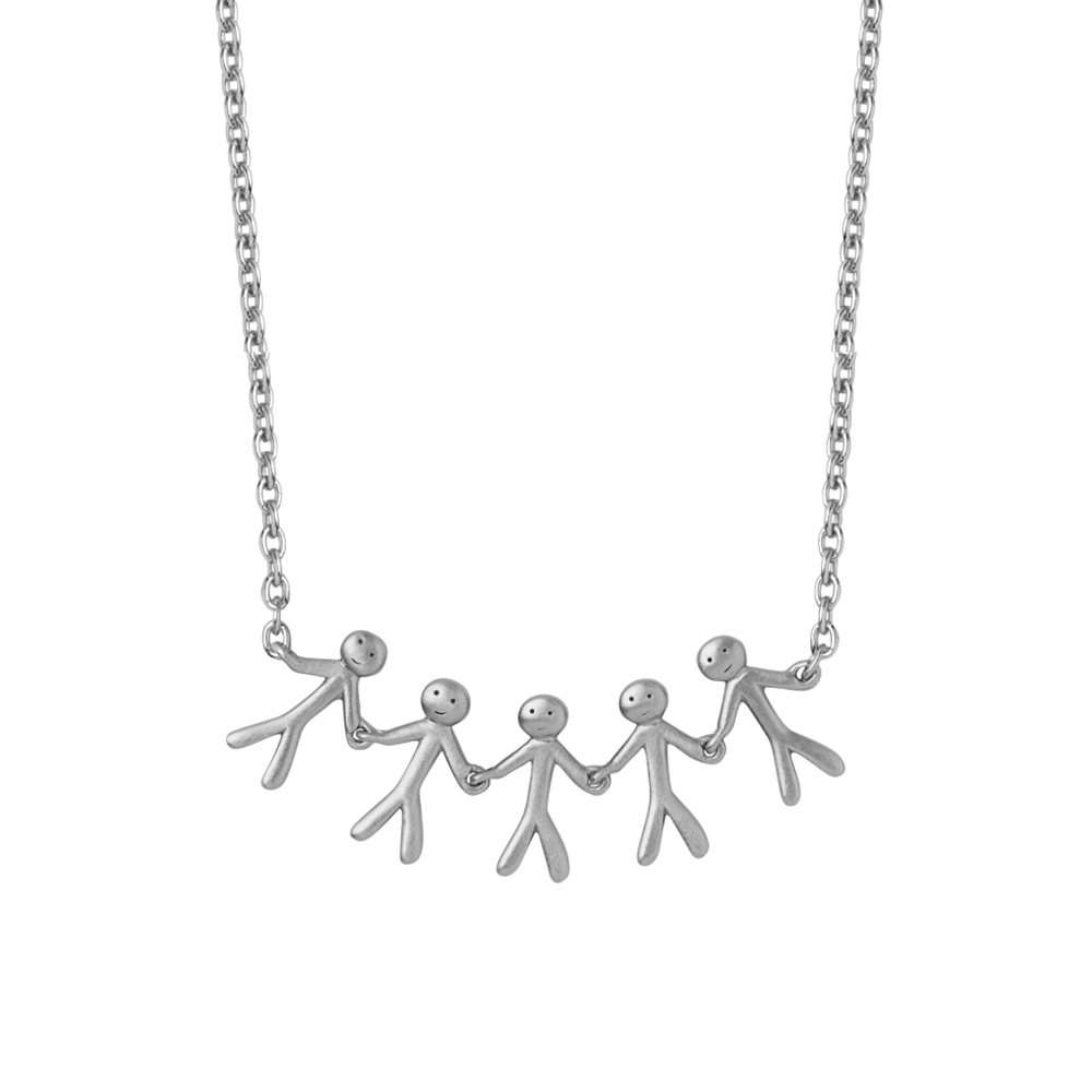 Together - Family necklace (5) - Silver