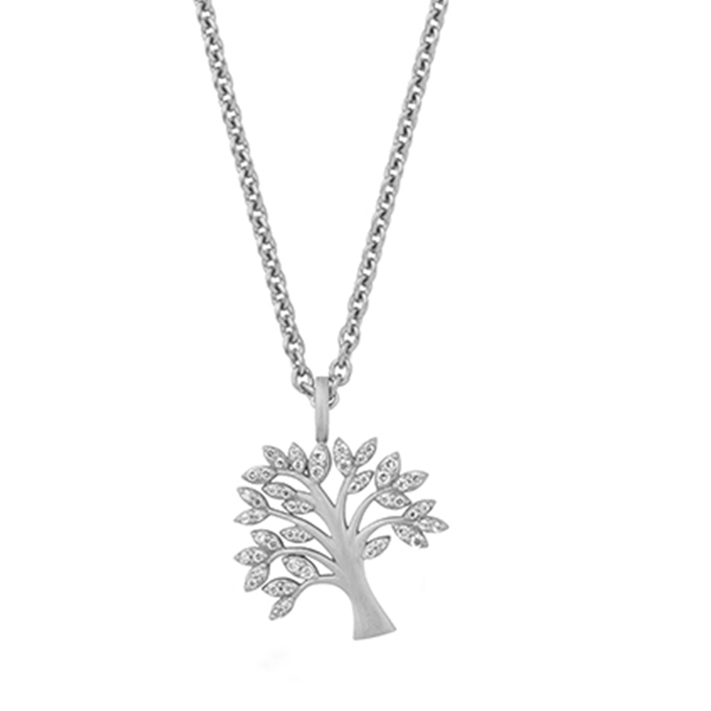 Tree of life pendant Necklace 45 cm Sparkle - Silver