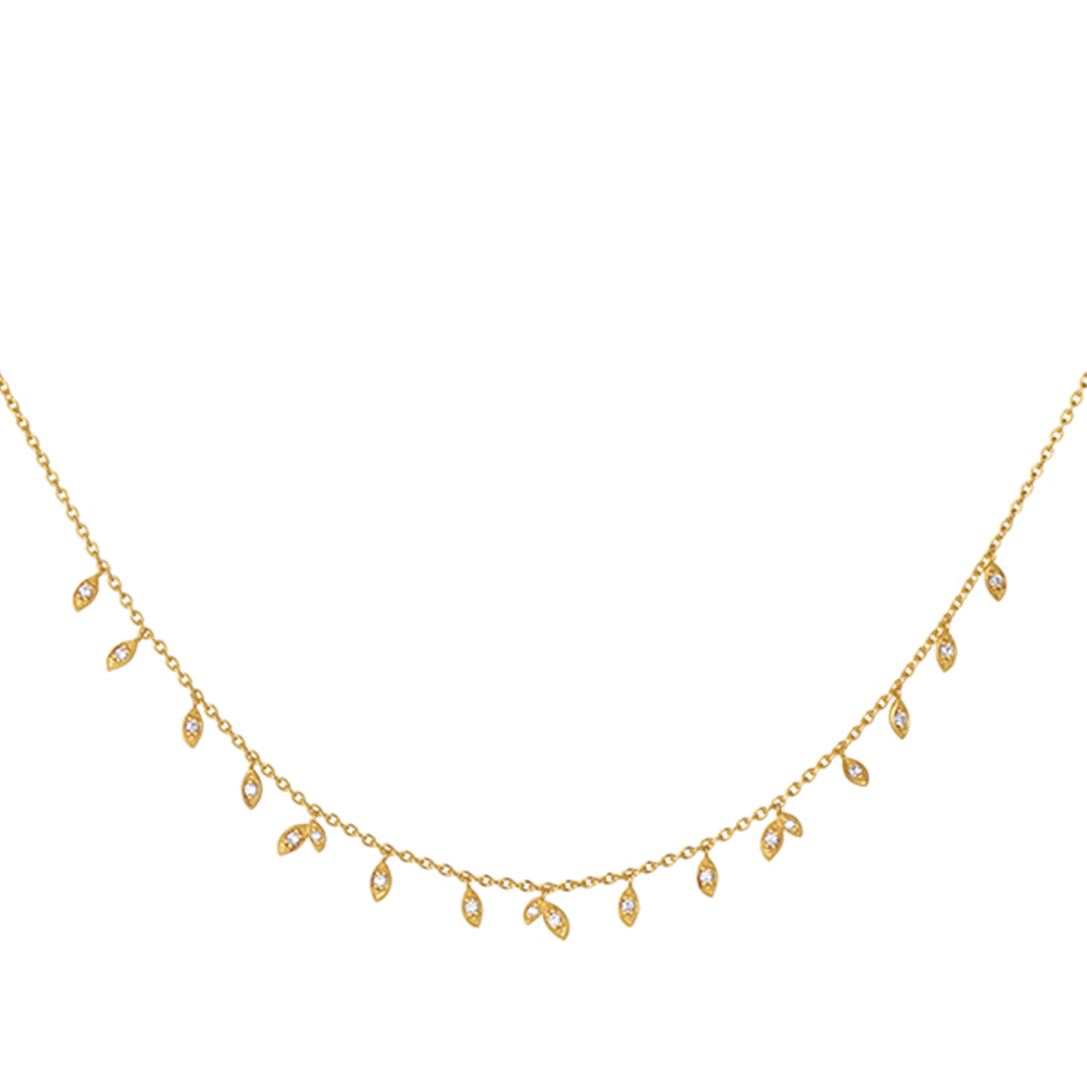 Jungle Vine necklace Sparkle - GP