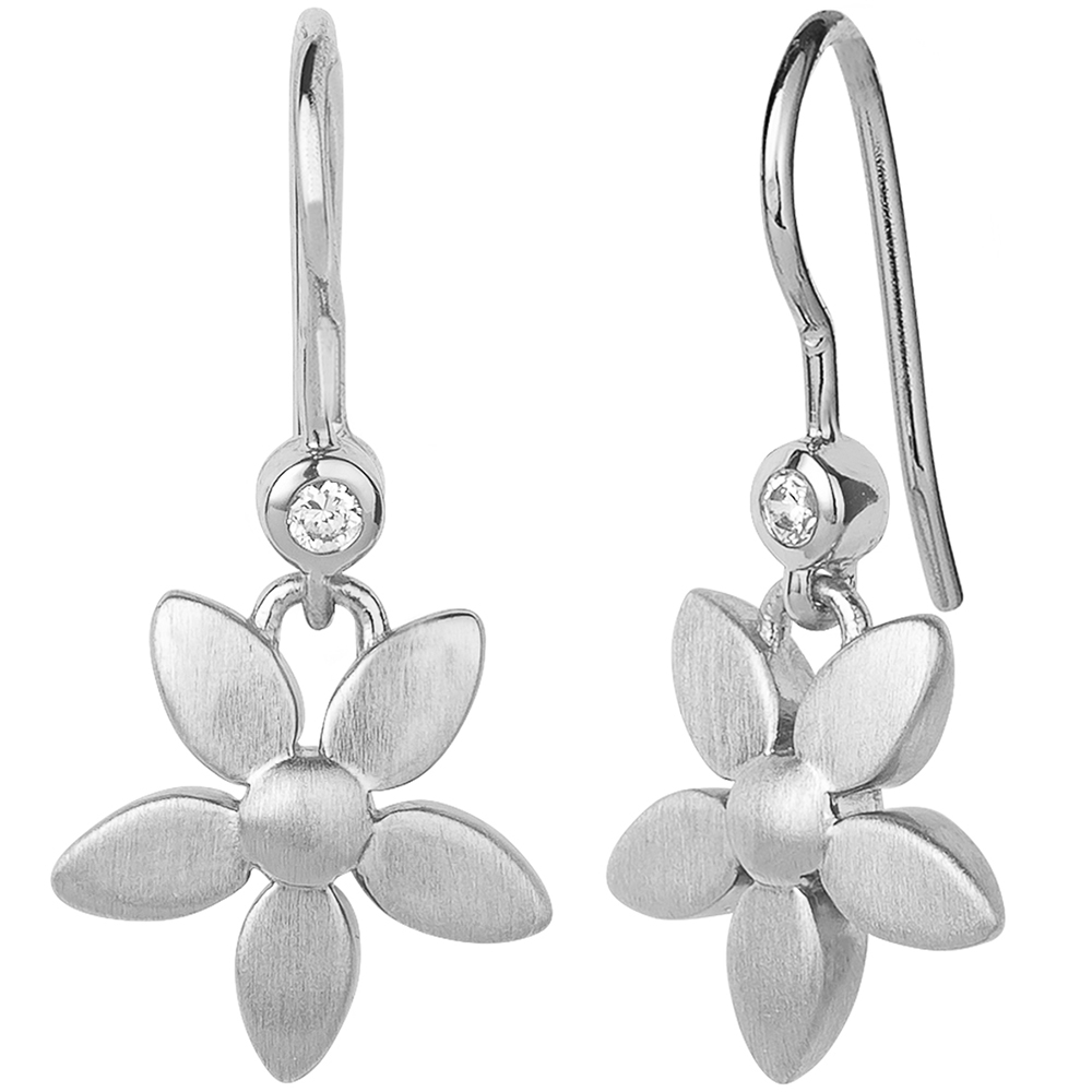 Forget-me-not earhangers - Silver  (Retired)