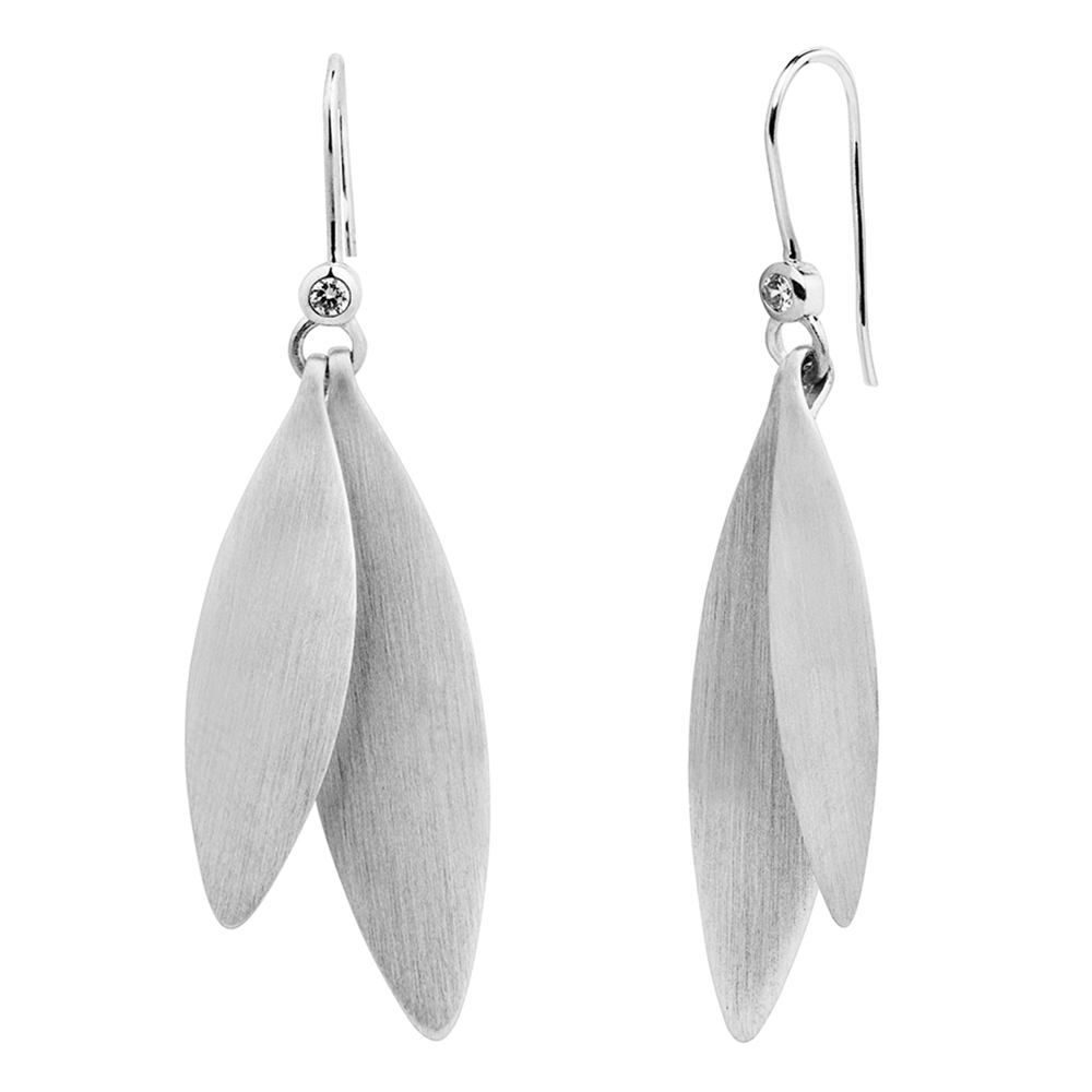 Olive earring - Silver