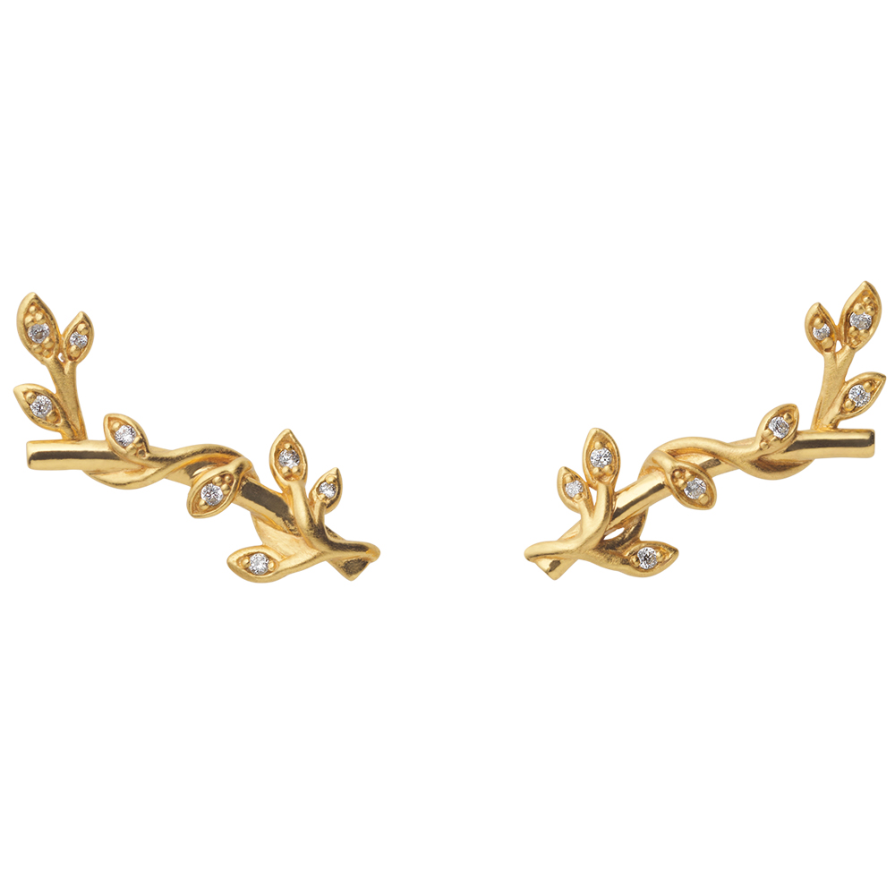 Jungle Ivy sparkle earpin - GP