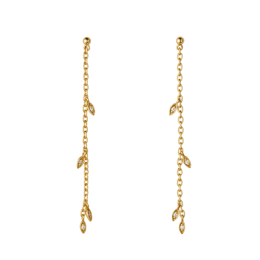 Jungle Ivy Sparkle String earrings - GP