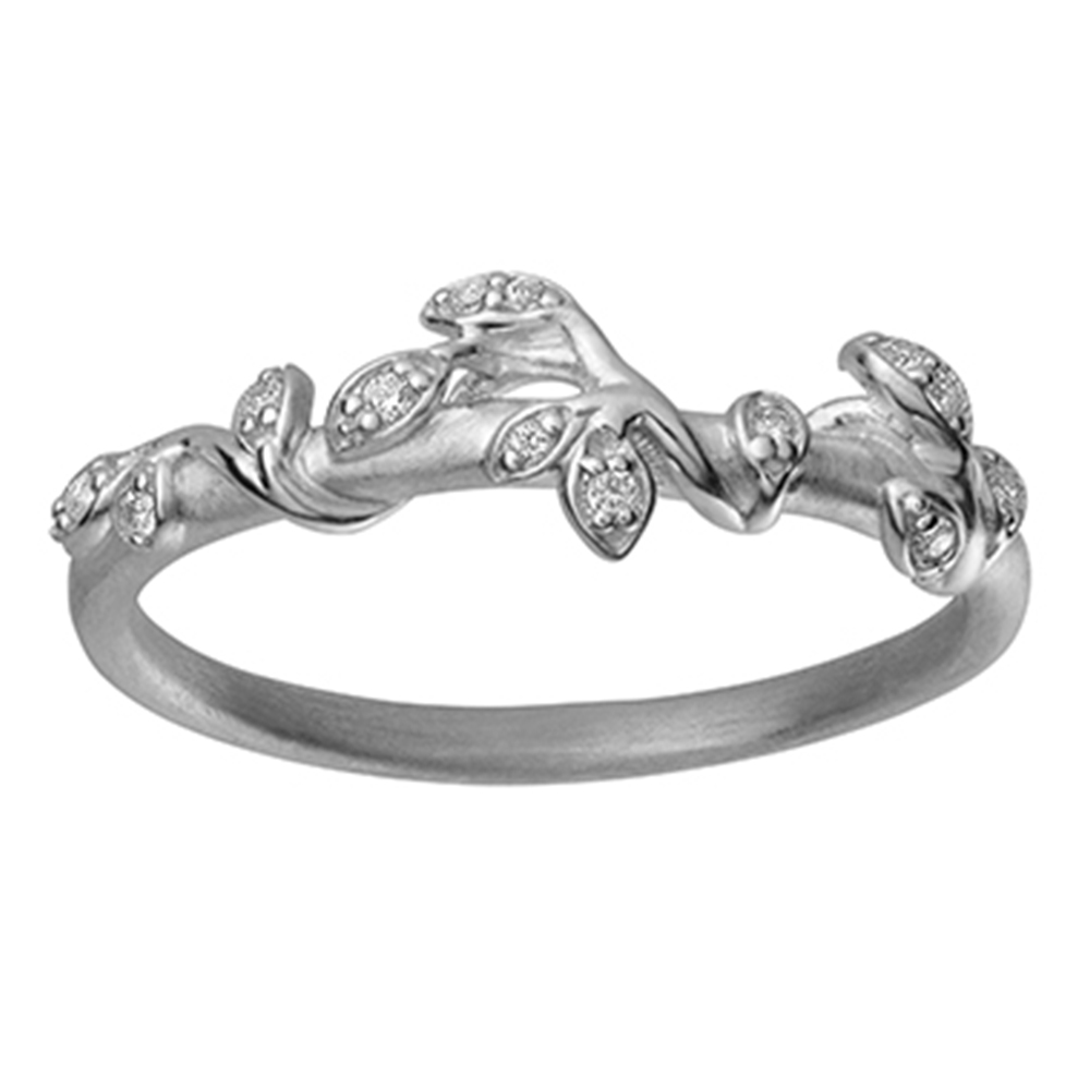 Jungle Ivy ring Sparkle - Silver
